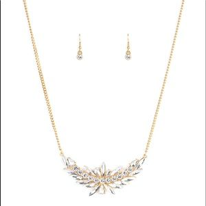 HEIRS and Graces Gold Elegant Necklace Earring Set